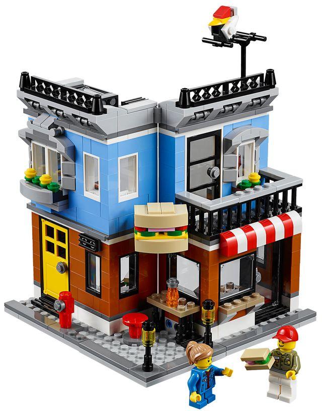 Bausatz-Eckhaus