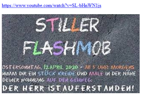 Ostern2020-stiller flashmob